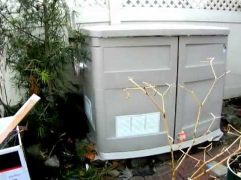 Home made portable generator shelter DYI