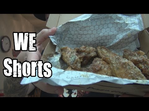 WE Shorts - Pizza Hut Garlic Parmesan Chicken Wings