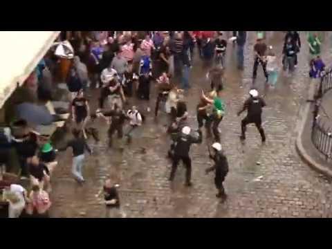 Euro 2012 Starcia Chorwackich Kibiców Z Policją W Poznaniu