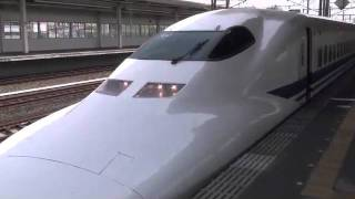 Japanese bullet train is controled by safety system after an accident.