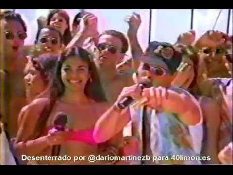 Anuncio de Ron Barceló de 1996, con Lizbeth y Oliver
