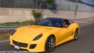 12x Ferrari 599 GTO Accelerating and Sound!