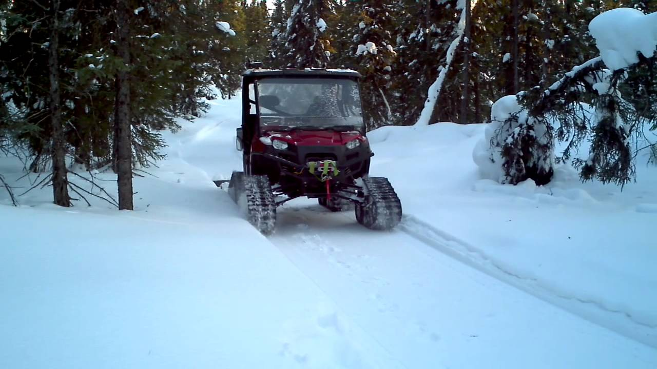 Tracks For Vehicles >> Snowmobile trail drag - YouTube