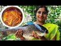 Village Food Cooking Big Rohu Fish Curry Recipe | Fish Fillet Andhra Style | Rui Macher Recipe