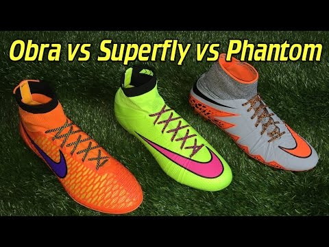 Nike Mercurial Superfly 4 vs Hypervenom Phantom 2 vs Magista Obra - Comparison + Review