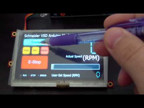 Arduino Mega controlling Schneider VSD using 4D Systems Colour LCD