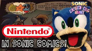 Nintendo Easter Eggs in Sonic Comics and Cartoons! - Sonic Easter Egg Hunt (UPDATED)