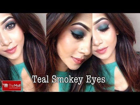 EID Look Ll Teal Green Smokey Eyes