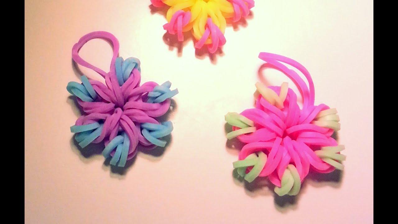 Comment faire une fleur avec des lastiques sans machine youtube - Comment faire des fleurs ...