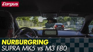 New Toyota SUPRA - Nürburgring BATTLE vs M3 F80 and a motorbike