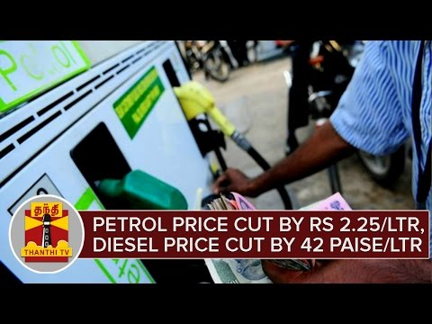 Breaking News : Petrol Price cut Rs 2.25 per Litre, Diesel Price cut by 42 Paise per Litre