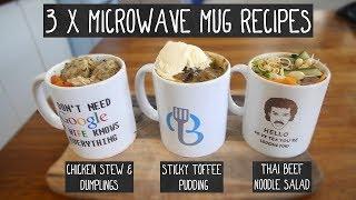 3 x Microwave Mug Recipes