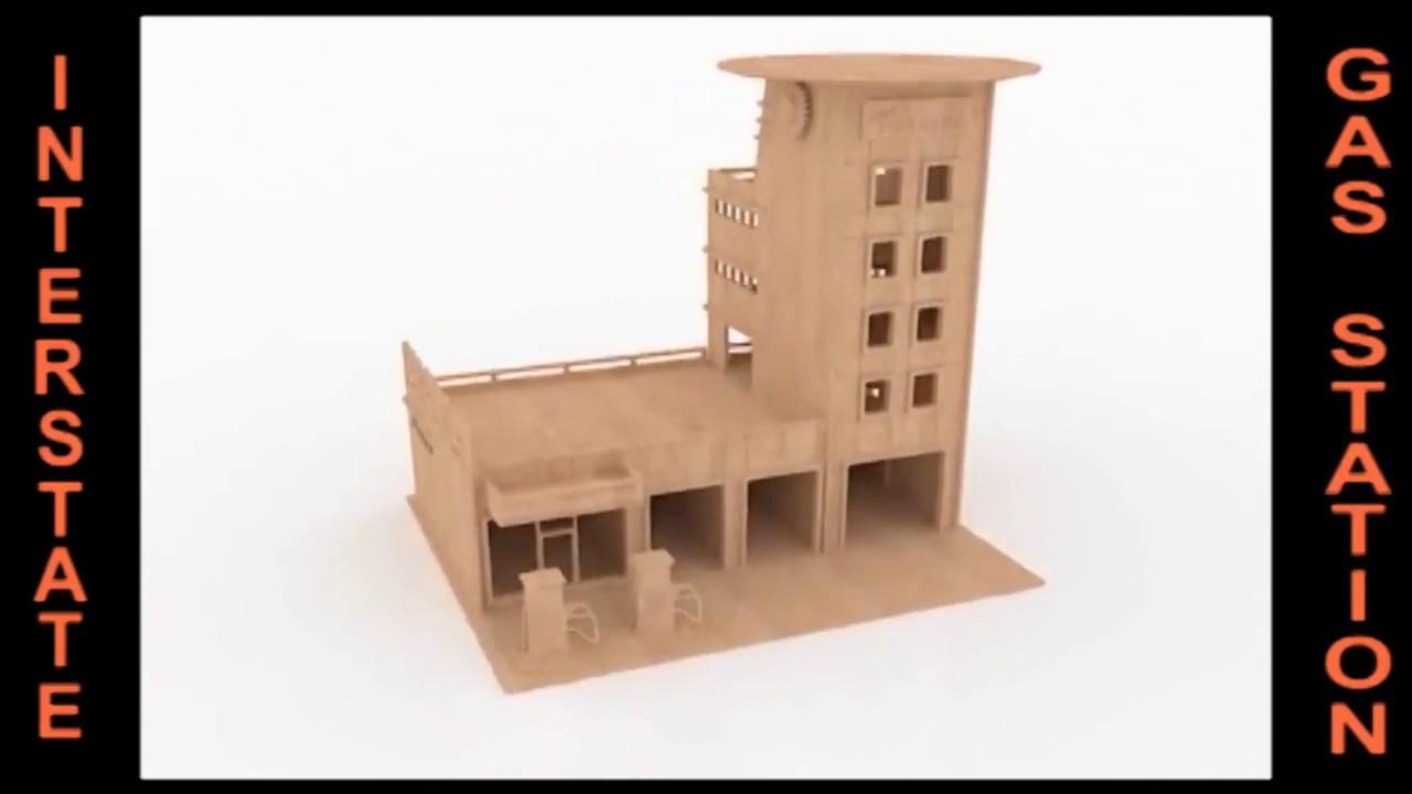 Cnc+Toy+Plans Gas Station wood toy Plans CNC Router Laser cut ...