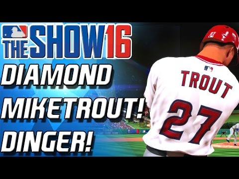 DIAMOND MIKE TROUT! DINGER! - MLB THE SHOW 16 BATTLE ROYALE