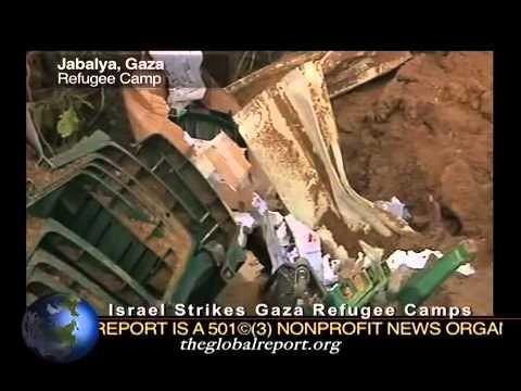 Israel Strikes Gaza Refugee Camps