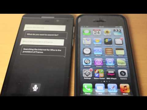 Blackberry Z10 vs iPhone 5 - Siri vs Voice Control