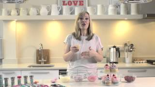 Colourful White Chocolate and Caramel Cupcakes with Lisa Marley and Dr. Oetker