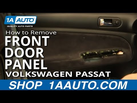 How To Install Replace Remove Front Door Panel Volkswagen Passat Wagon 1AAuto.com