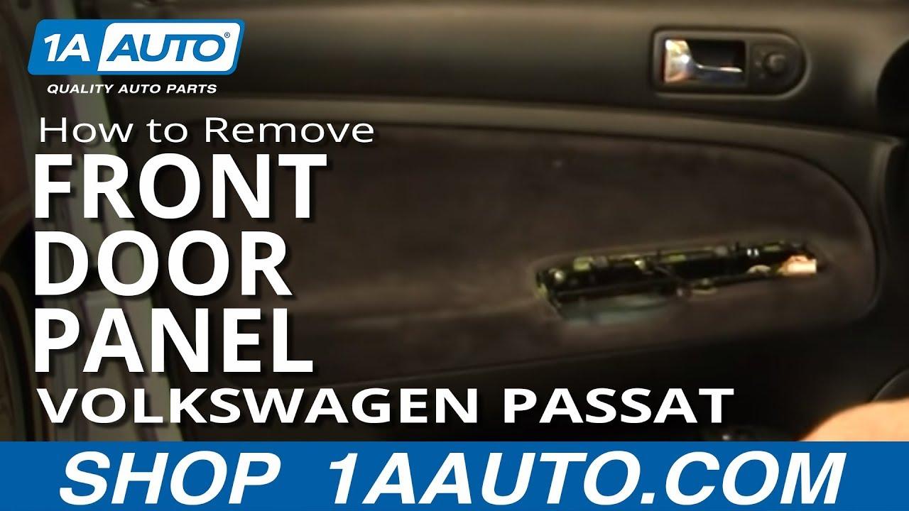 How To Install Replace Remove Front Door Panel Volkswagen