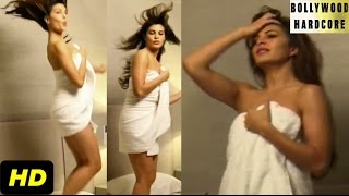Jacqueline Fernandez HOT Photoshoot in Towel | Dabboo Ratnani Calendar Making - 2015 (Full Video)