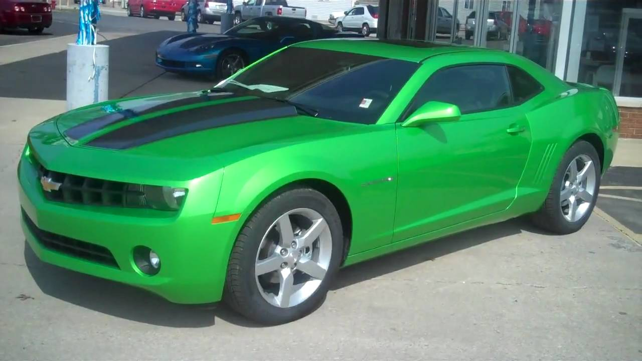 2010 Camaro Synergy Green Special Edition Youtube