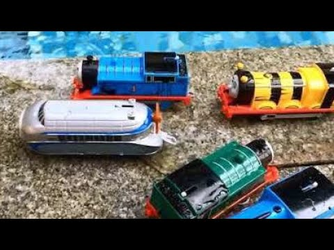 Thomas and Friends Accidents Will Happen at the Pool Playtime fun for Kids Thomas The Tank Engine