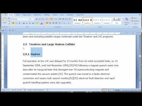 Thesis numbering word 2010