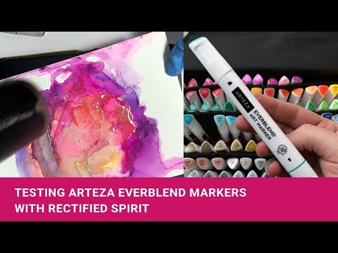 Arteza Everblend Markers diluted with Rectified Spirit (95% alcohol)