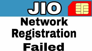 How To Fix Jio Sim Registration Failed Solution