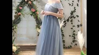 Chic / Beautiful Sky Blue Bridesmaid Dresses 2019