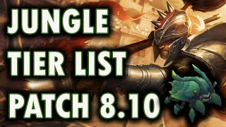Jungle Tier List Patch 8.10 | Best Junglers To Carry Solo Queue 8.10 | League of Scuttle