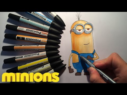 How to draw Kevin minion from Minions easy step by step video lesson for beginners