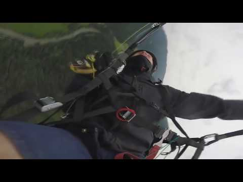 Сложения параплана  (Paragliding. The addition of the wing)