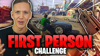 Raner en BANK I FIRST PERSON CHALLENGE!? 😂😂 | Norsk GTA5