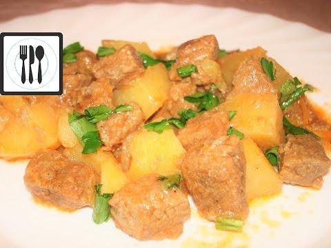 Тас Кебаб - Мясо баранина (говядина) с картошкой по-турецки / Tas kebabi tarifi