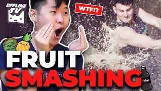 THE WHOLE THING EXPLODED! OFFLINETV FRUIT SMASHING FT. DisguisedToast Pokimane Lily Fedmyster Scarra