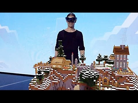 Hololens Microsoft Minecraft Gameplay Demo 2015
