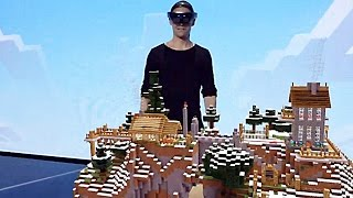 Hololens Microsoft Minecraft Gameplay Demo 2015