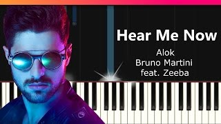 Ouça Alok Bruno Martini feat Zeeba - Hear Me Now Piano Tutorial - Chords - How To Play - Cover