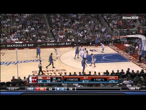 LA Clippers Drain 4 Straight 3's - Thunder @ Clippers 1/30/2012