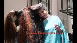 Meghma Sensual Golden Long Tresses Playing | New Indian Rapunzel