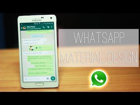 Whatsapp Material Design OFICIAL | Cualquier Dispositivo | Tu Android Personal