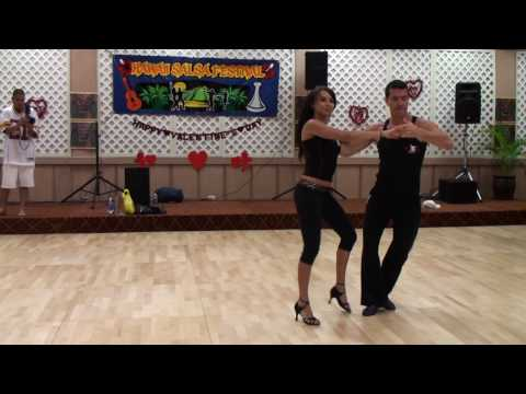 Oliver & Luda partner work on2 workshop in Hawaii salsa festival2010