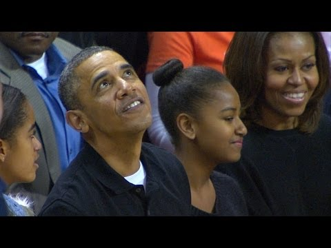 President Barack Obama and the First Family attended Sunday's game between Oregon State and Maryland at the Comcast Center. Oregon State head coach Craig Rob...