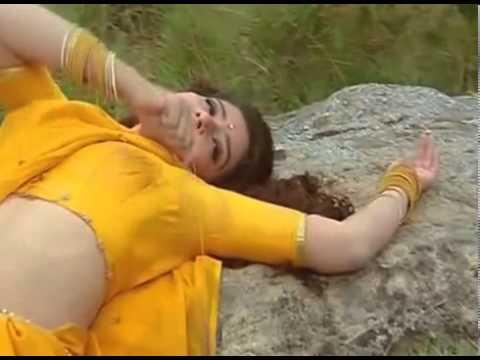 Young Manisha Koirala Hot Beautiful Yelllow Saree.