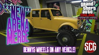 GTA 5 Online - **PATCHED** BENNYS ARENA MERGE - FULL MODDED VEHICLE MERGE...By SCG!