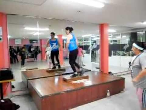 Clase de step en All sport by Blanca Reyo Diciembre 2011
