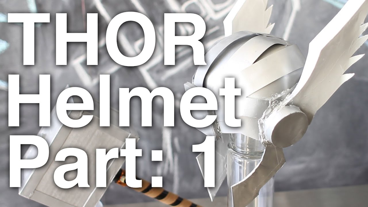Cardboard Helmet Tutorial Cardboard Thor Helmet Part 1