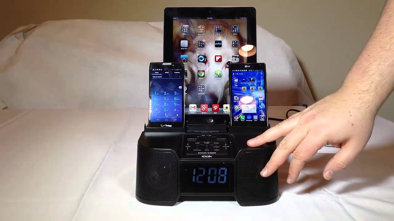 dok cr  port smart phone charger  alarm clock fm radio review youtube