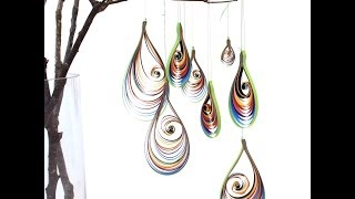Quilling Rainbowdrops